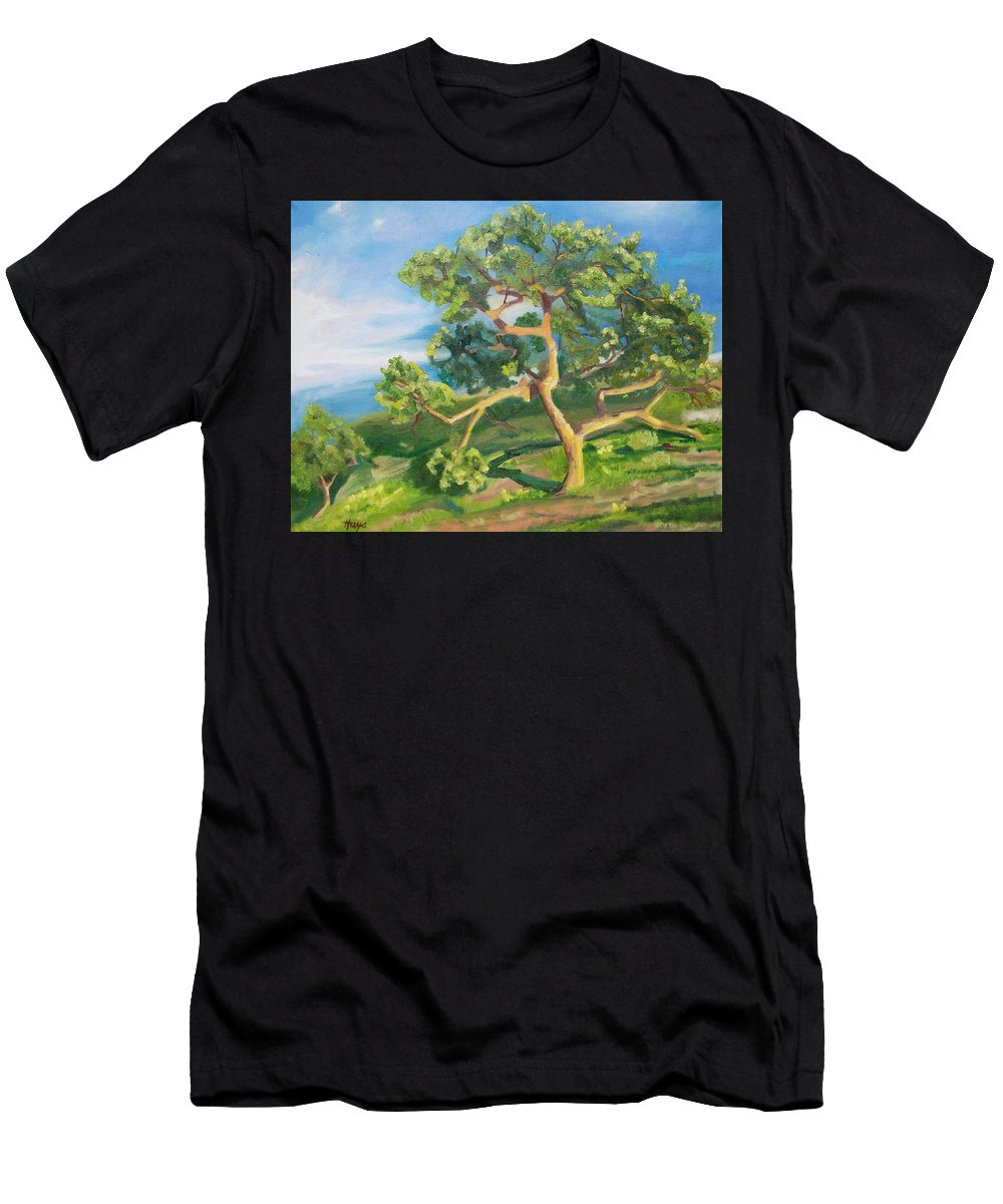 California Oak Men's T-Shirt (Athletic Fit) featuring the painting California Oak by Donna Hays