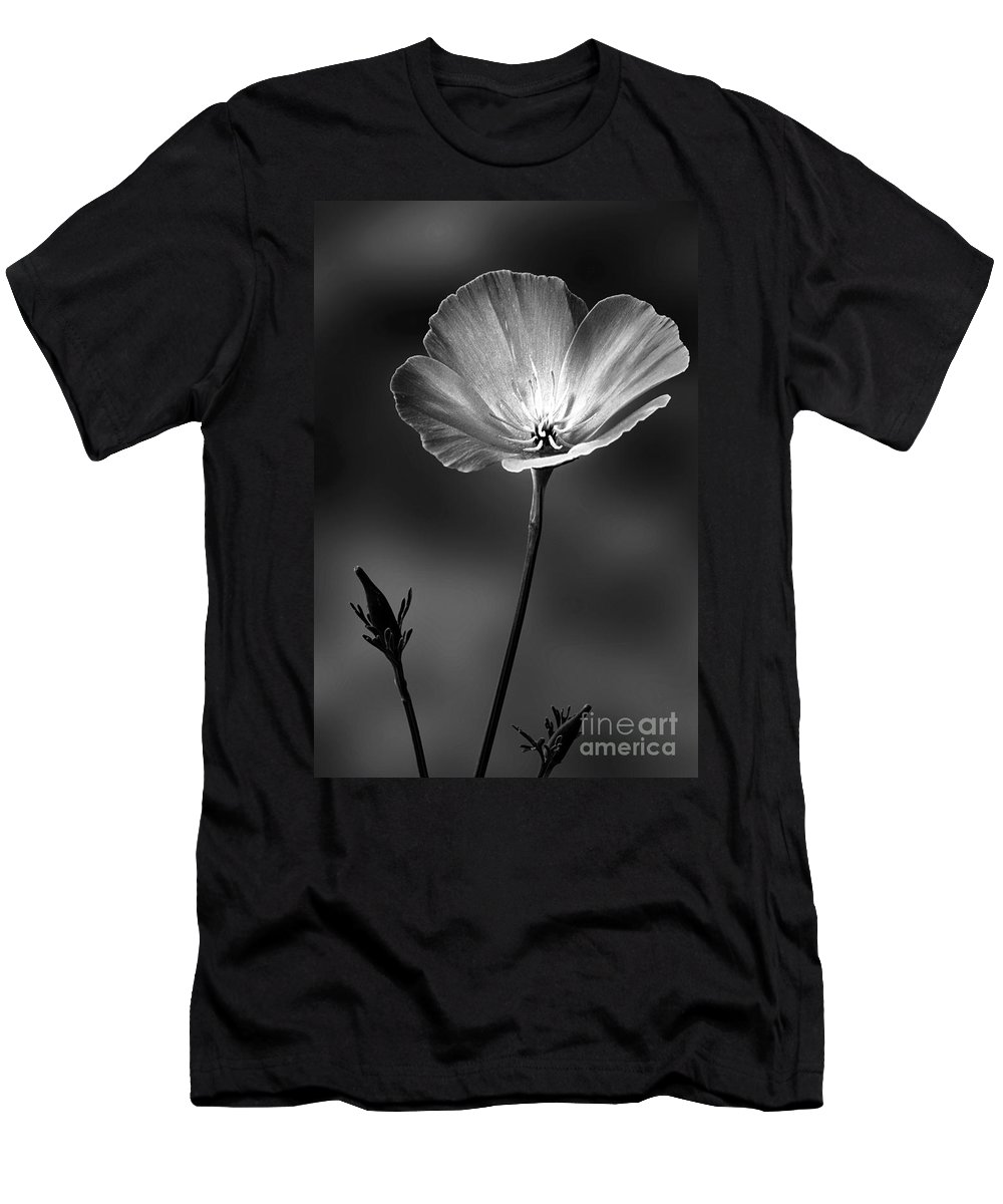 Californian Poppy Men's T-Shirt (Athletic Fit) featuring the photograph Californian Poppy by John Edwards