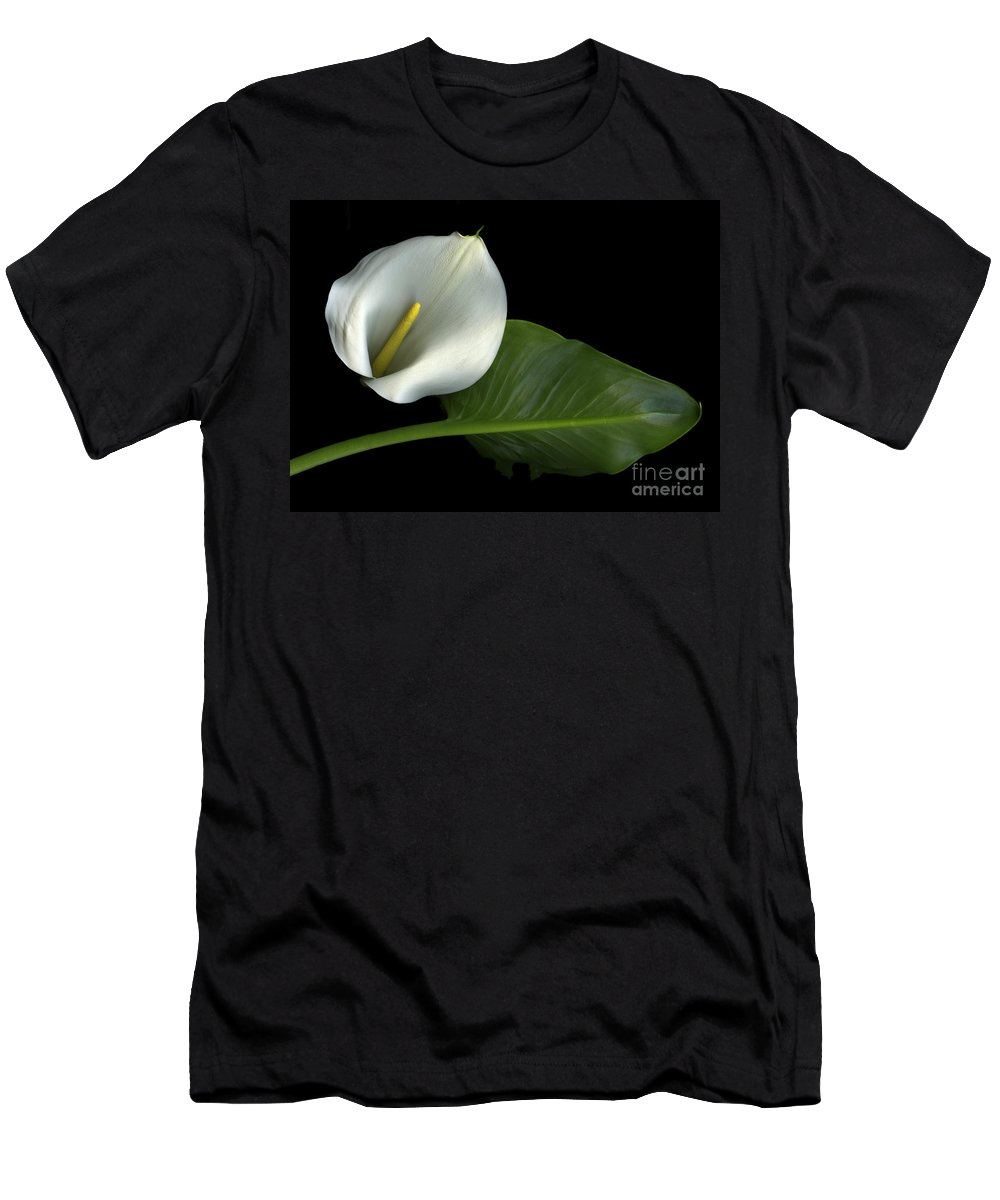 Scanography Men's T-Shirt (Athletic Fit) featuring the photograph Calla Lily by Christian Slanec