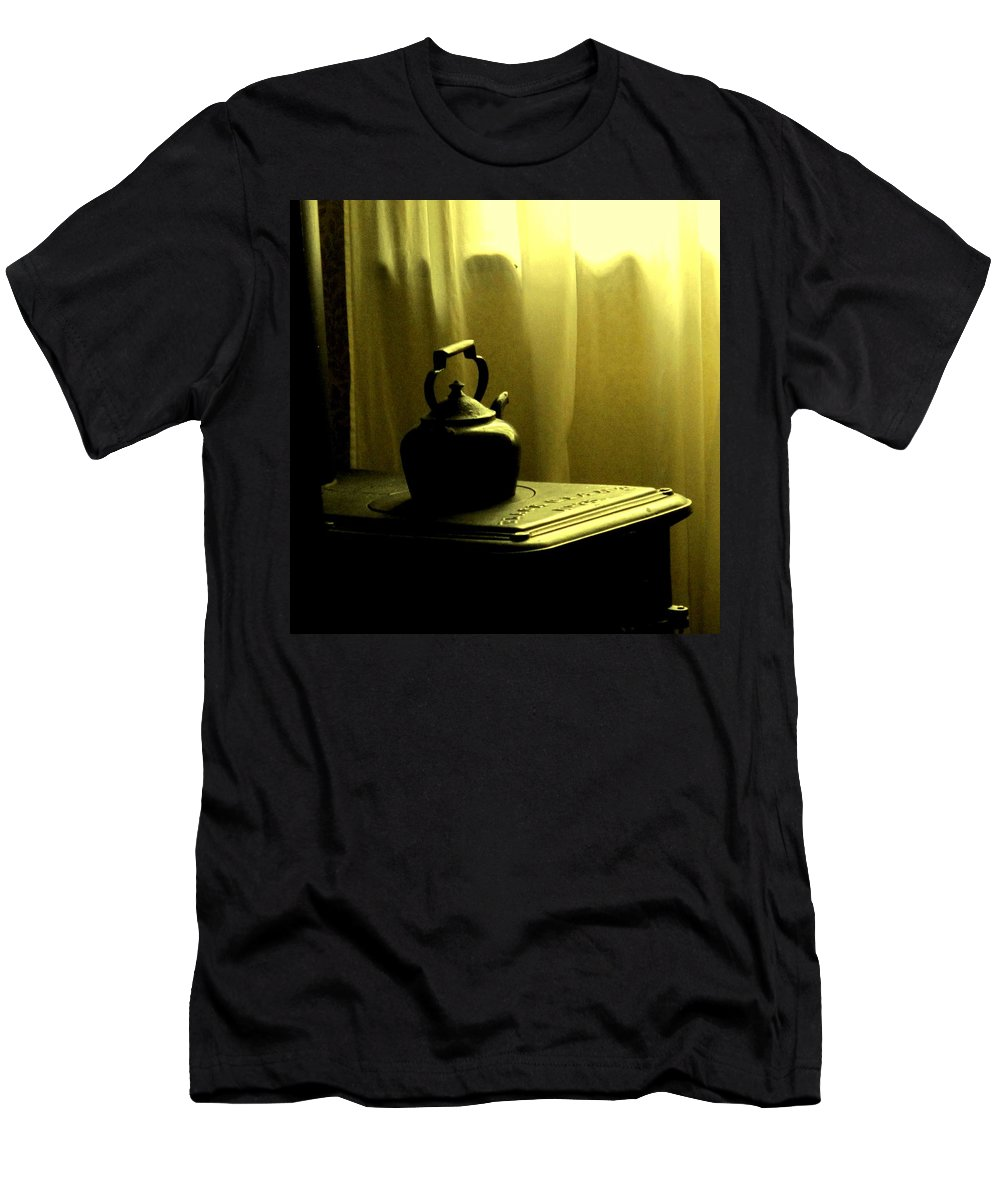 Kettle Men's T-Shirt (Athletic Fit) featuring the photograph Calling The Kettle Black by Ian MacDonald