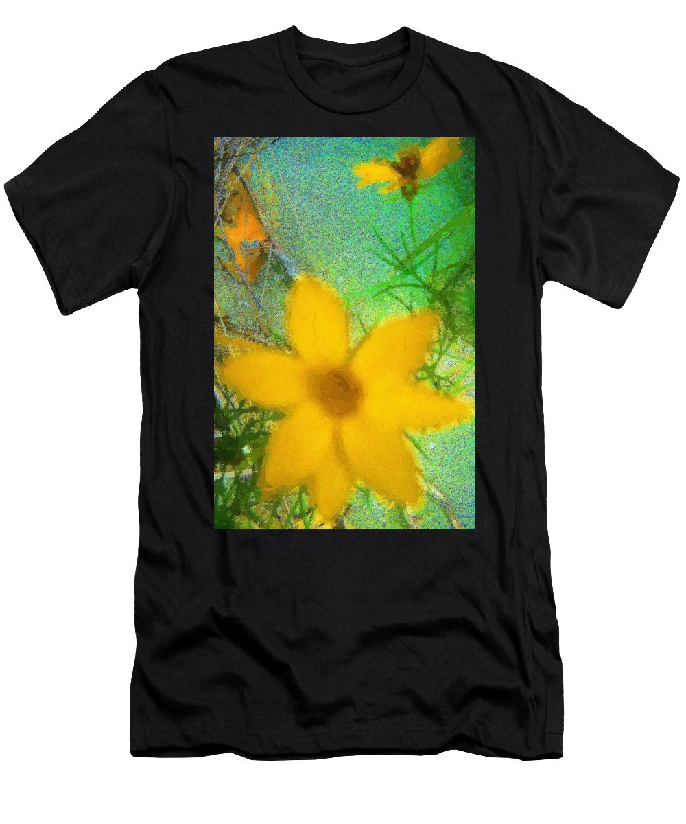 Flowers Men's T-Shirt (Athletic Fit) featuring the digital art Calm by April Patterson