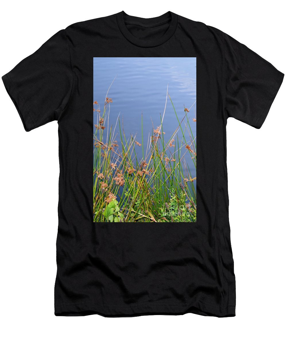 Calm Men's T-Shirt (Athletic Fit) featuring the photograph Calm Waters by Anita Goel