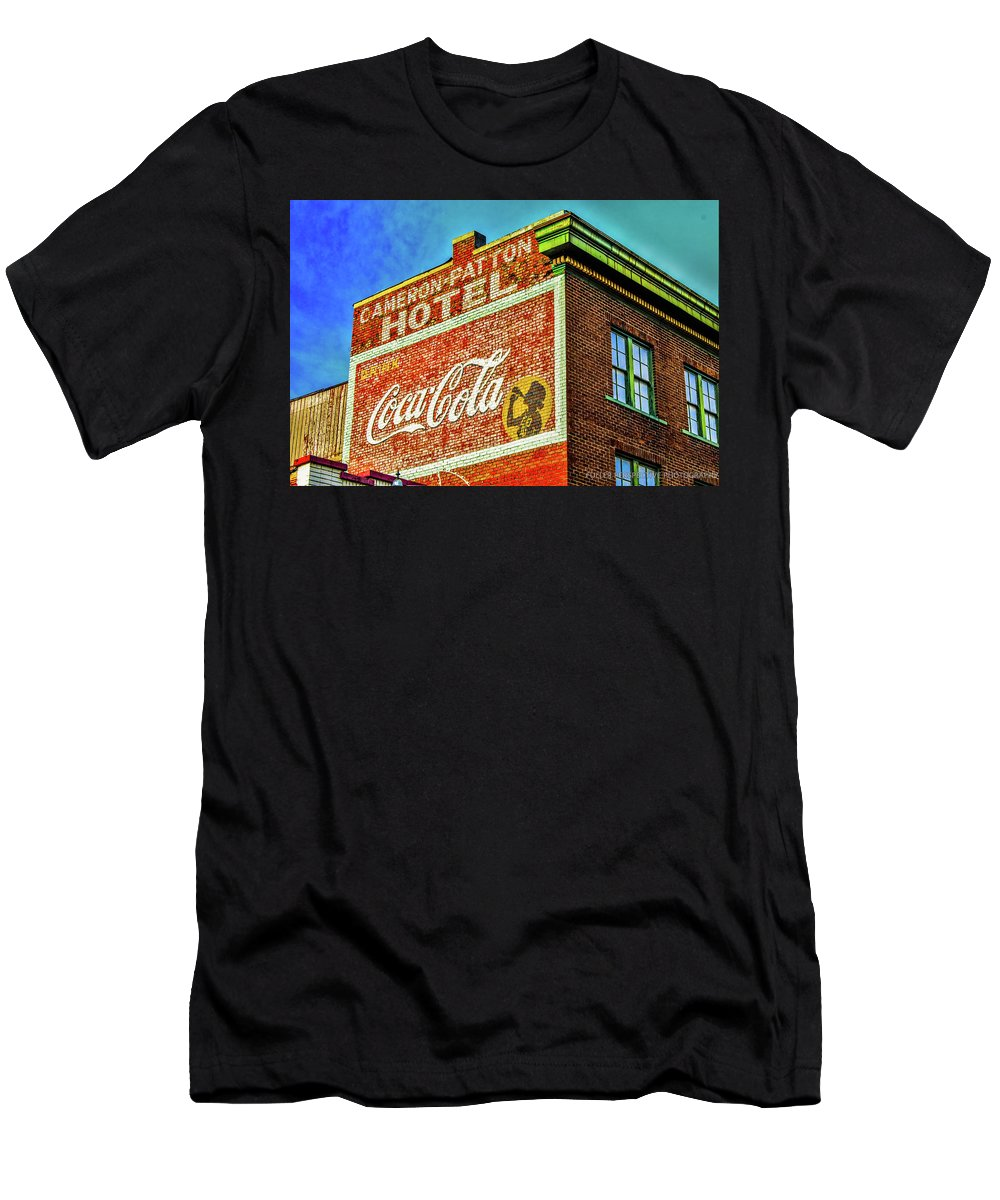 Coco Cola Men's T-Shirt (Athletic Fit) featuring the photograph Cameron Patterson Hotel by Chad Fuller