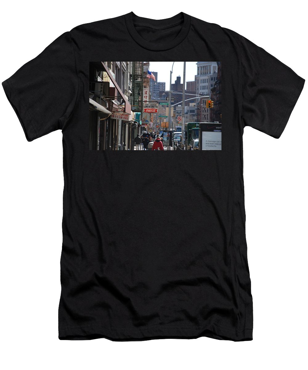 Architecture Men's T-Shirt (Athletic Fit) featuring the photograph Canal And Eldridge by Rob Hans