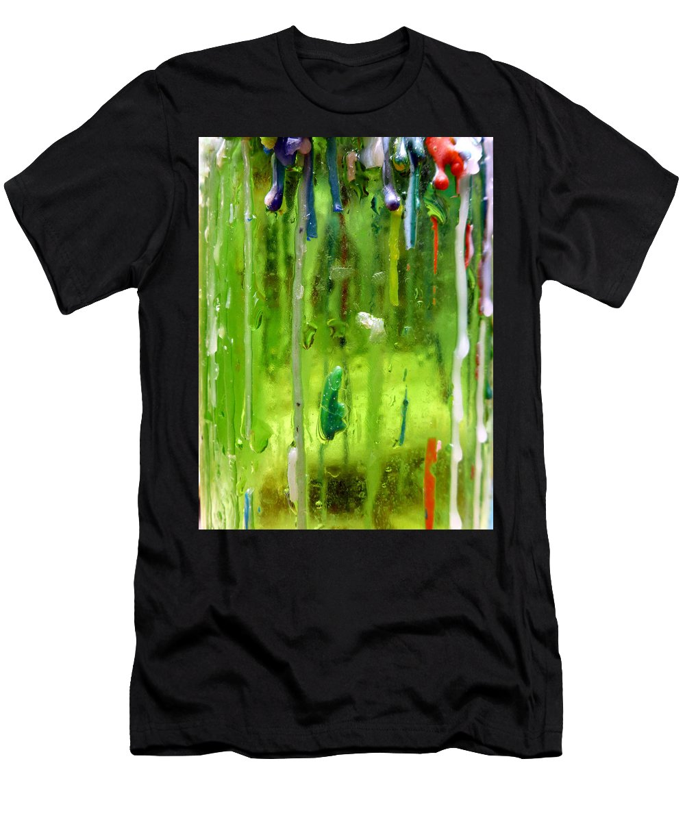 Abstract Art Men's T-Shirt (Athletic Fit) featuring the photograph Candleholder Glow by Elaine Bawden