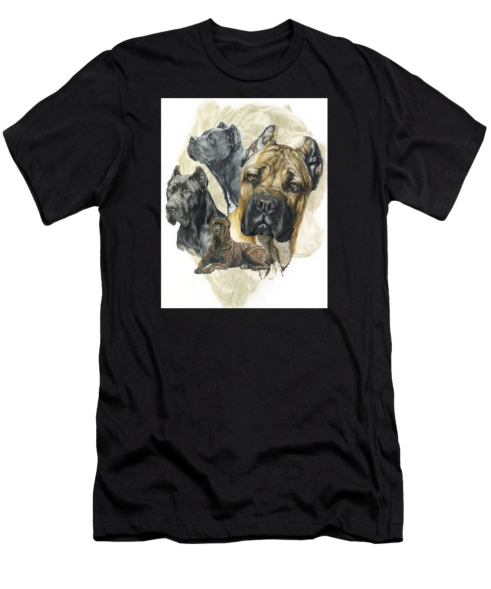 Working Men's T-Shirt (Athletic Fit) featuring the mixed media Cane Corso W/ghost by Barbara Keith