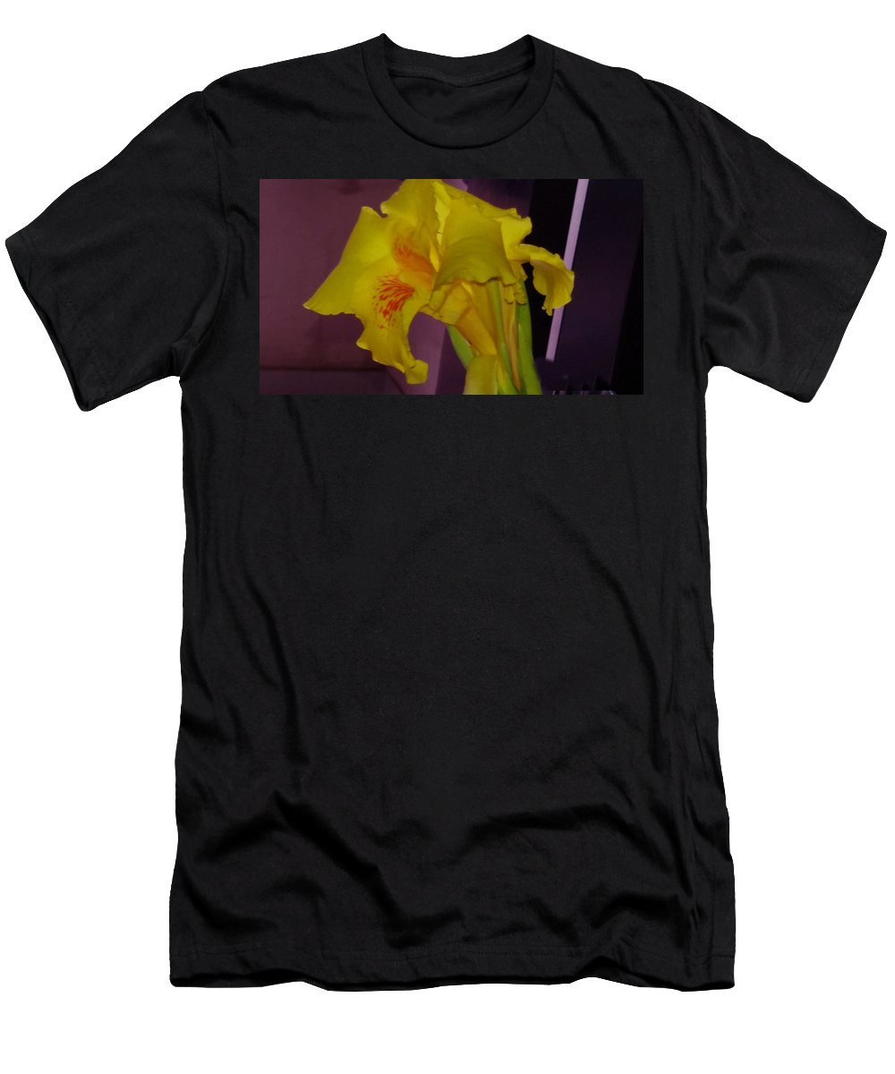 Canna Men's T-Shirt (Athletic Fit) featuring the photograph Canna Flower by Nick Photography