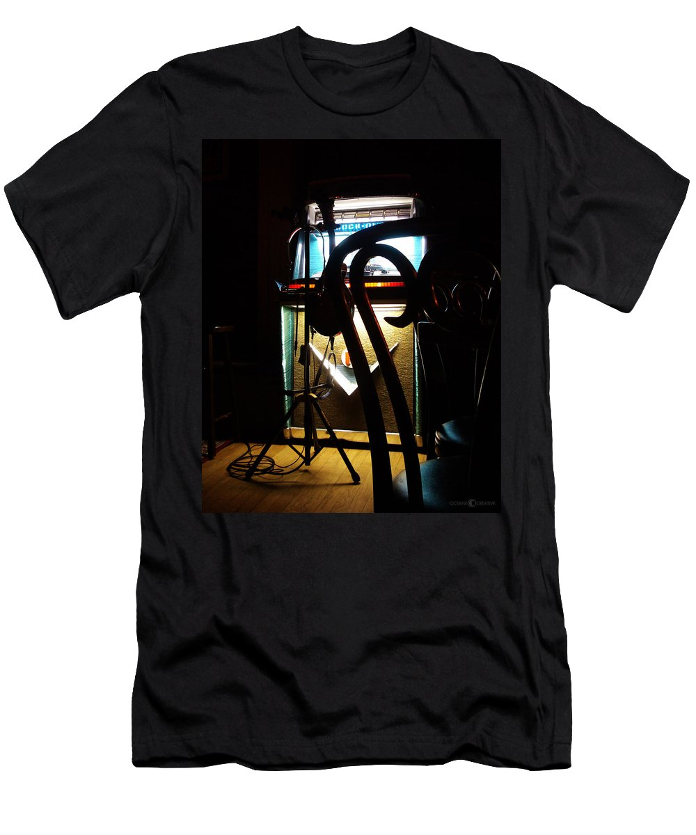 Music Men's T-Shirt (Athletic Fit) featuring the photograph Canned Music by Tim Nyberg