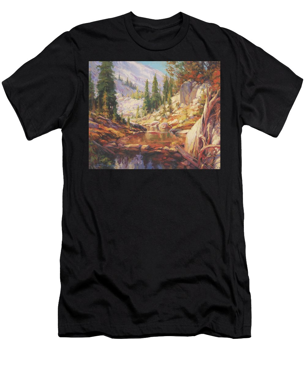 Wilderness Men's T-Shirt (Athletic Fit) featuring the painting Cantata by Steve Henderson