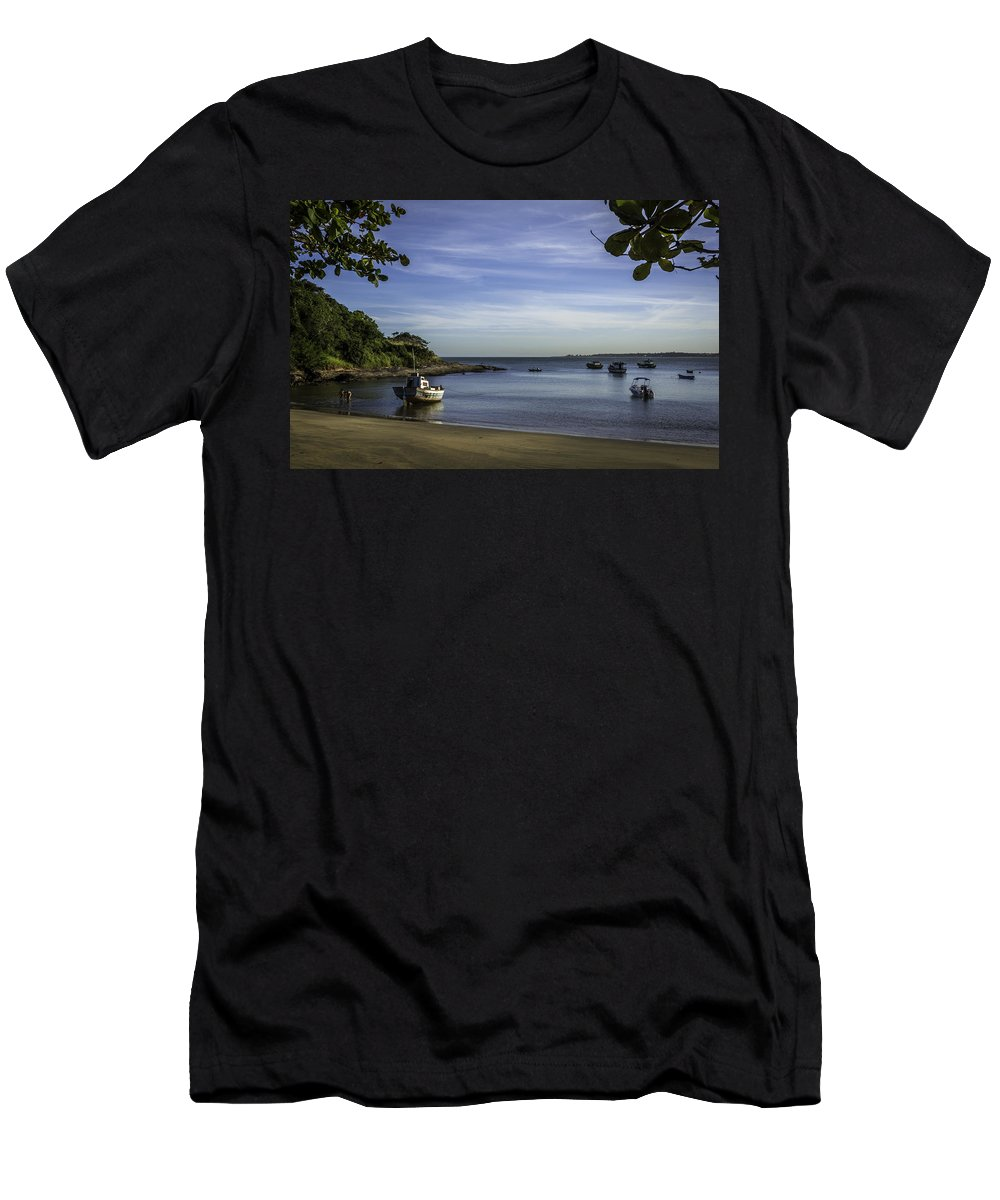 Ubu Beach Men's T-Shirt (Athletic Fit) featuring the photograph Cantinho Em Ubu by Victor Fernandes