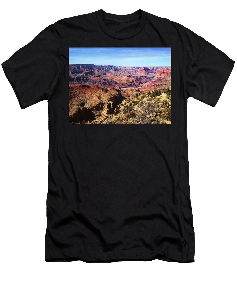 Grand Canyon Men's T-Shirt (Athletic Fit) featuring the photograph Canyon Beauty by Charla Dury