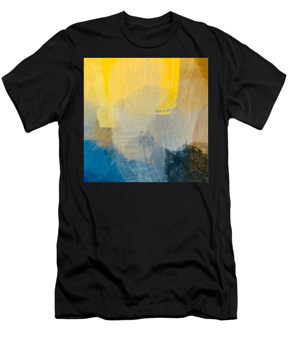 Sun Men's T-Shirt (Athletic Fit) featuring the painting Canyon Sunrise by Chris Fulks