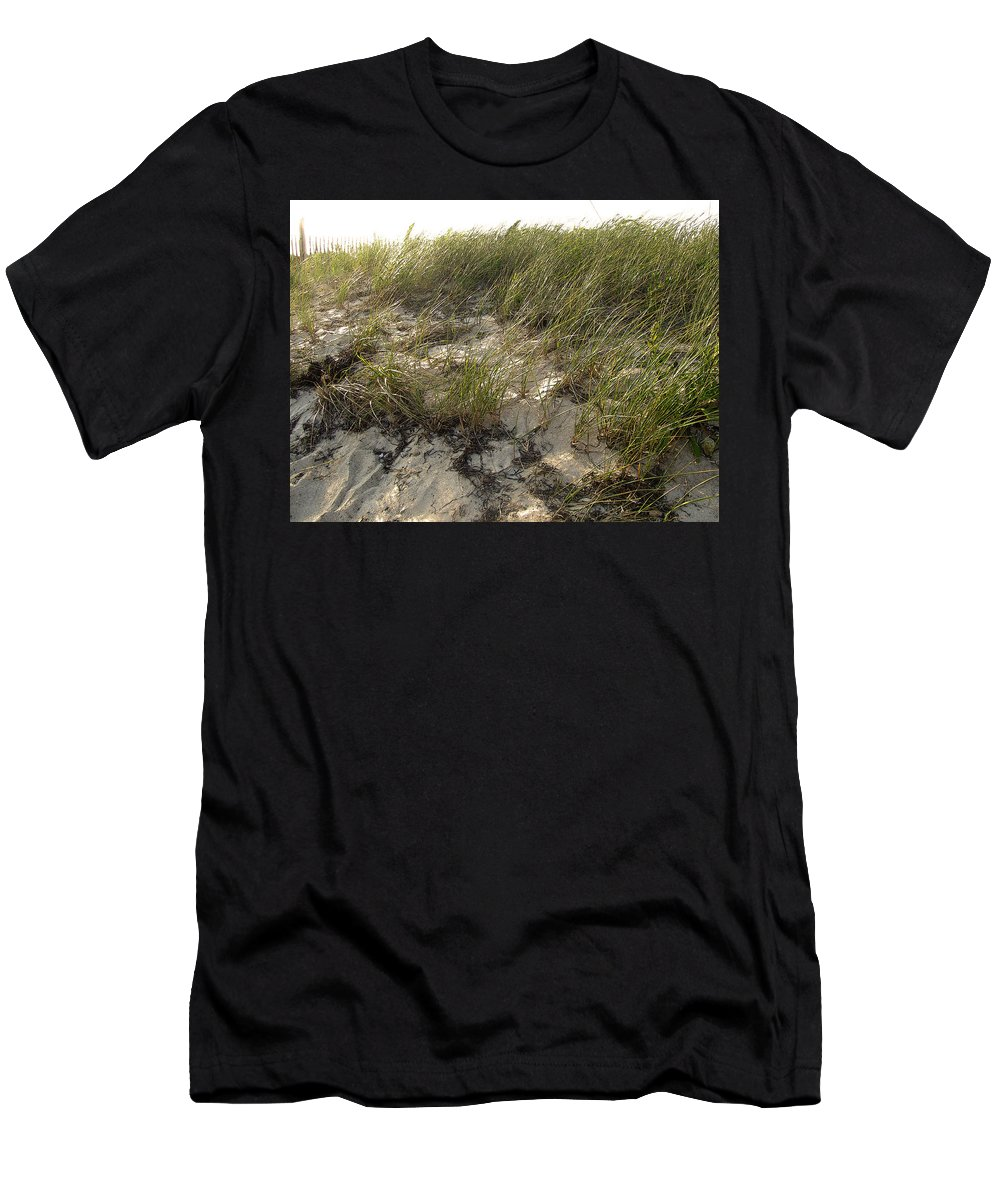 Cape Cod Men's T-Shirt (Athletic Fit) featuring the photograph Cape Cod Beach 1 by Mark Sellers