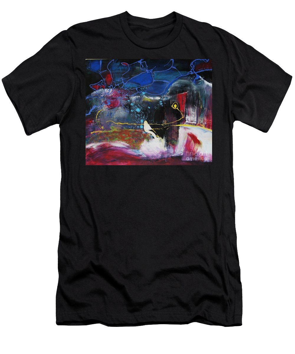 Abstract Men's T-Shirt (Athletic Fit) featuring the painting Cape Spear by Seon-Jeong Kim