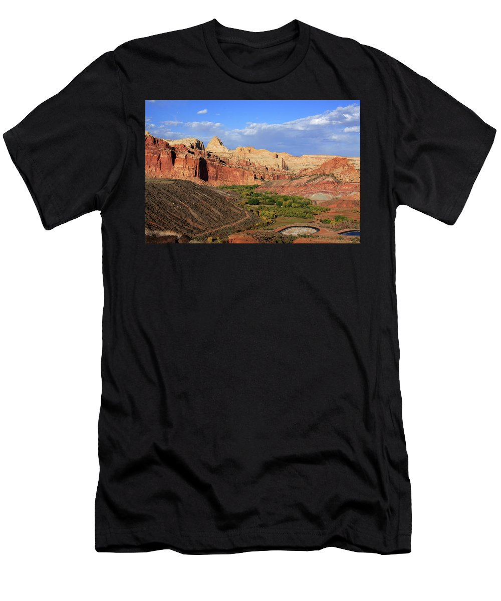 Utah Men's T-Shirt (Athletic Fit) featuring the photograph Capitol Reef State Park, Utah by Aidan Moran