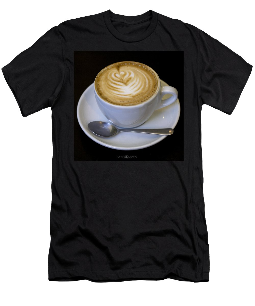Coffee Men's T-Shirt (Athletic Fit) featuring the photograph Cappuccino by Tim Nyberg