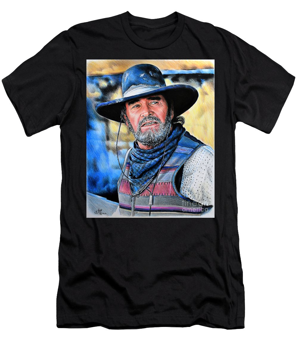 a0c9cc68dcc James Garner Men s T-Shirt (Athletic Fit) featuring the drawing Captain  Woodrow F