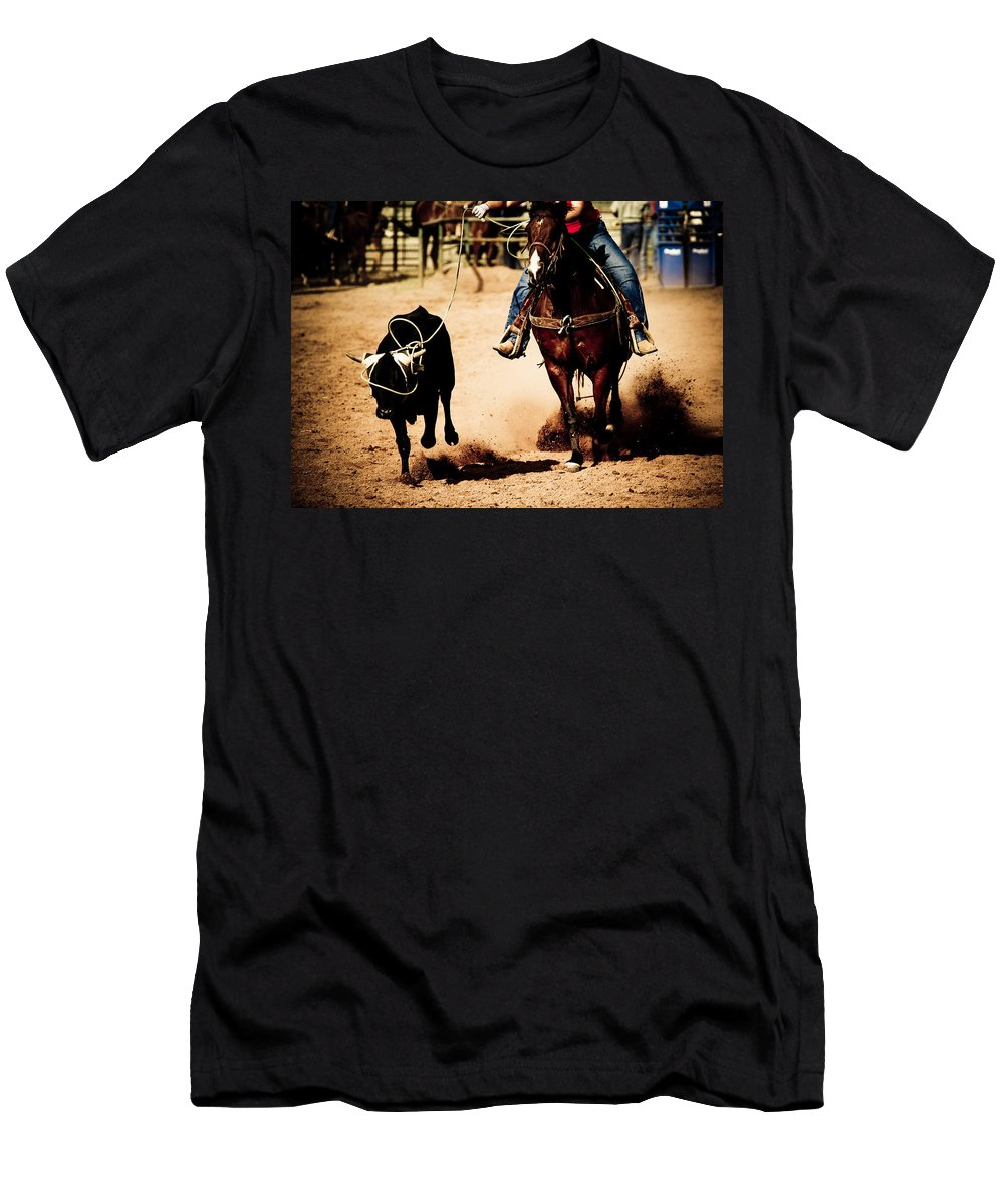 Western Men's T-Shirt (Athletic Fit) featuring the photograph Capture by Scott Sawyer