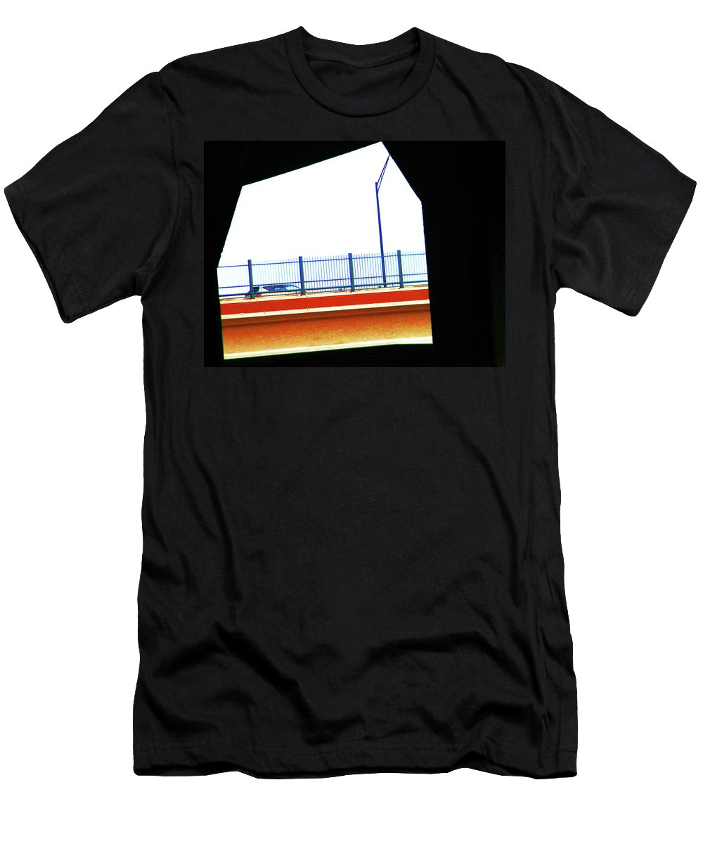 Abstract Men's T-Shirt (Athletic Fit) featuring the photograph Car On The Bridge by Lenore Senior