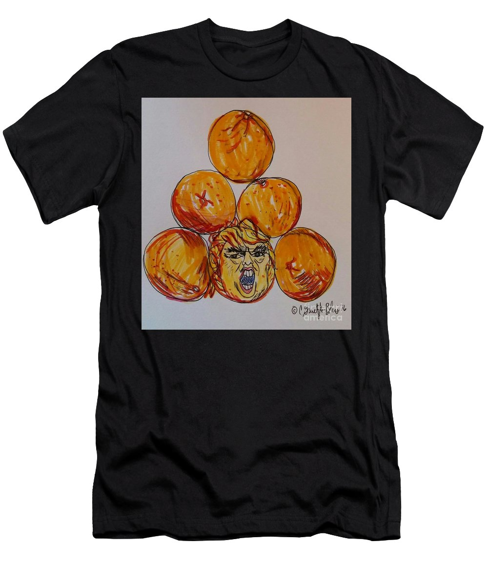 Trump Men's T-Shirt (Athletic Fit) featuring the painting Careful Which You Pick by Catherine Gruetzke-Blais
