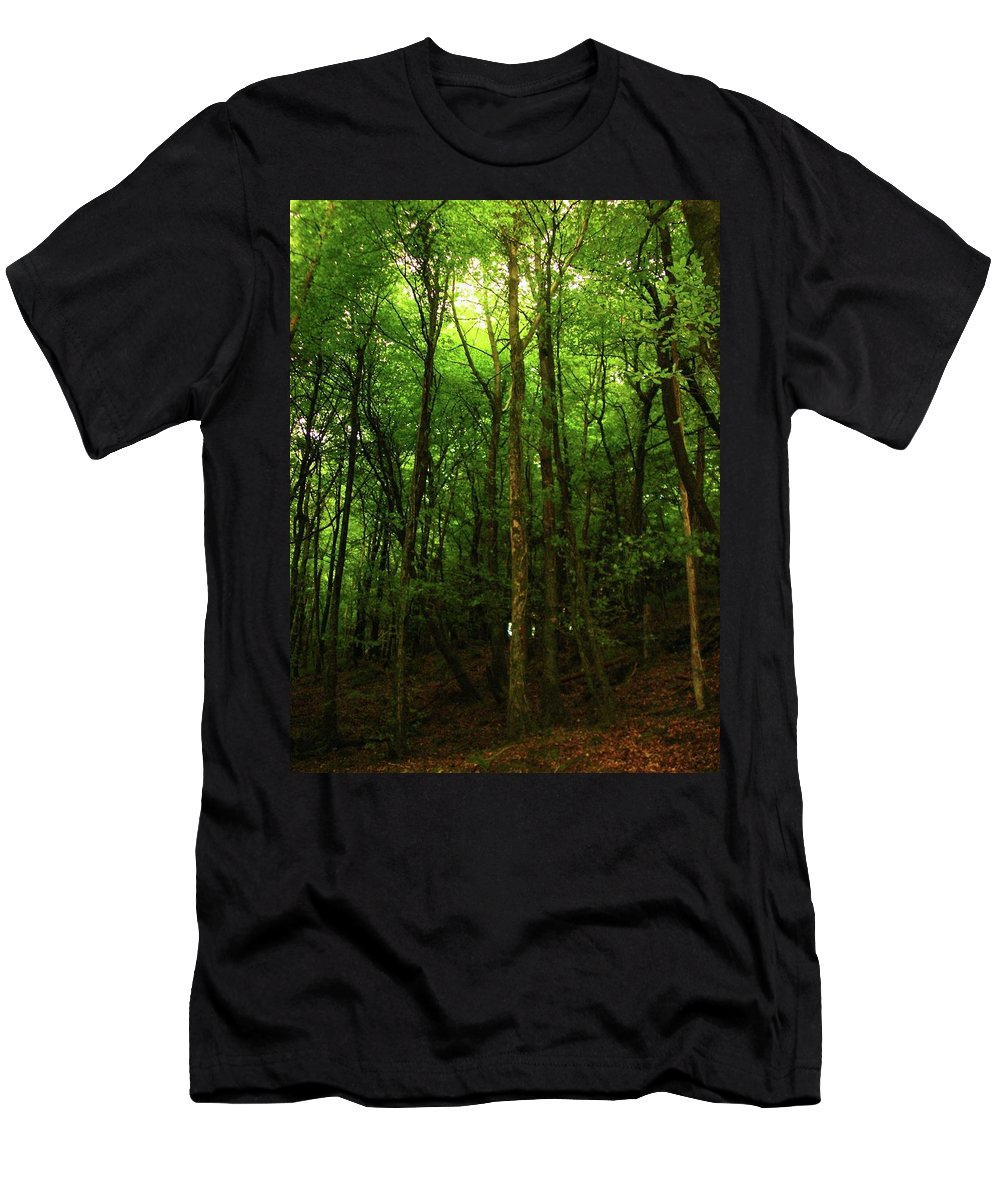 Landscape Men's T-Shirt (Athletic Fit) featuring the photograph Carins Hill Co Sligo Ireland by Louise Macarthur Art and Photography