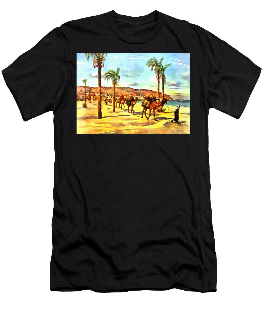 Carmel Men's T-Shirt (Athletic Fit) featuring the photograph Carmel Mountains by Munir Alawi