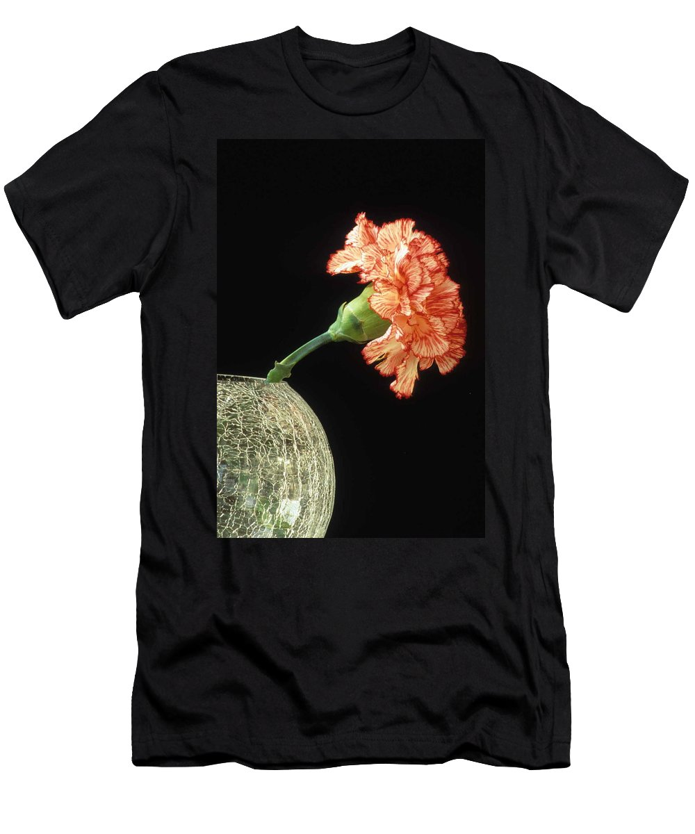 Carnation Men's T-Shirt (Athletic Fit) featuring the photograph Carnation by Laurie Paci