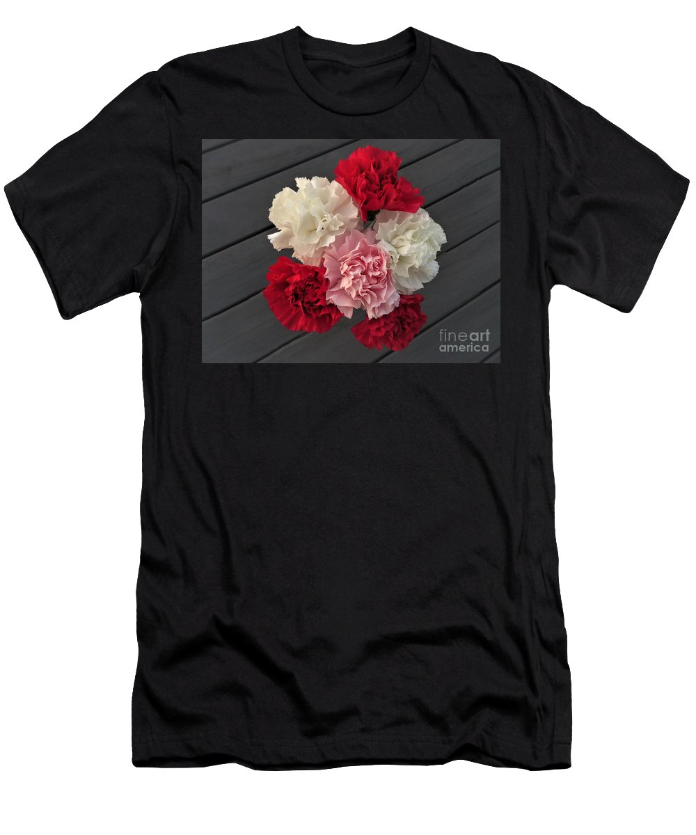 Carnation Men's T-Shirt (Athletic Fit) featuring the photograph Carnations by Scenic Sights By Tara