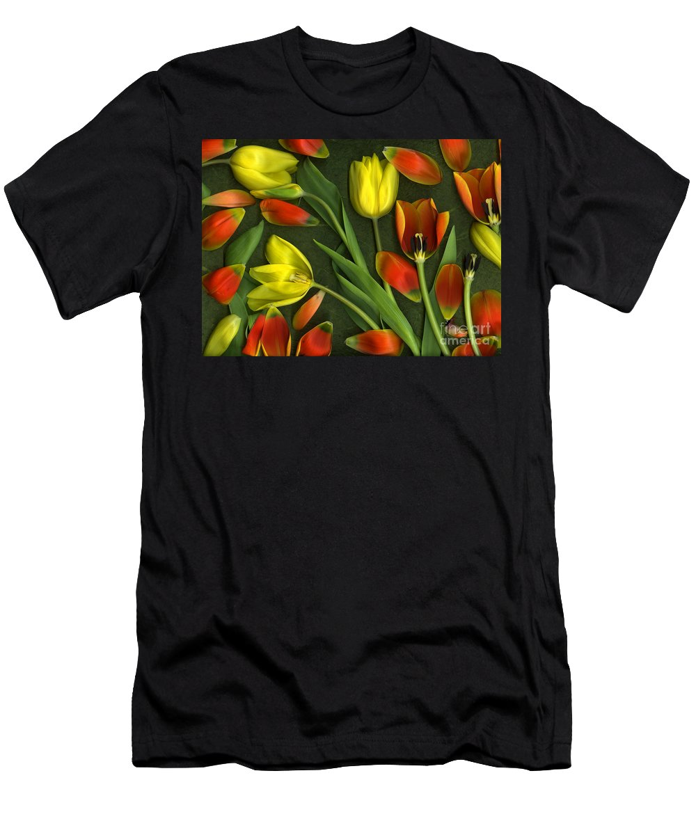 Red Men's T-Shirt (Athletic Fit) featuring the photograph Carnival by Christian Slanec