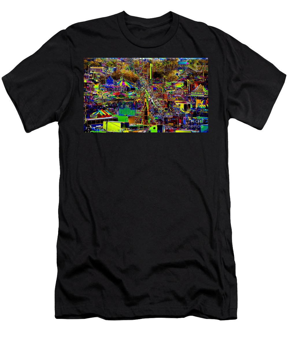 Carnival Men's T-Shirt (Athletic Fit) featuring the painting Carnival by David Lee Thompson