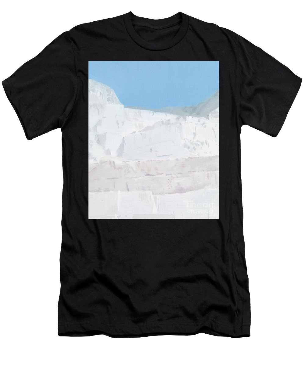 Marble T-Shirt featuring the painting Carrara by Alessandro Raho