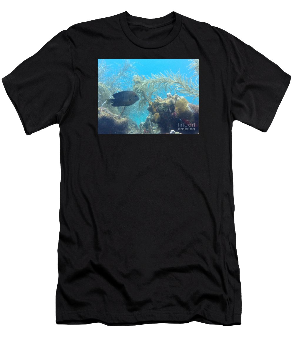 Ocean Men's T-Shirt (Athletic Fit) featuring the photograph Carribean Sea Life by Gina Sullivan