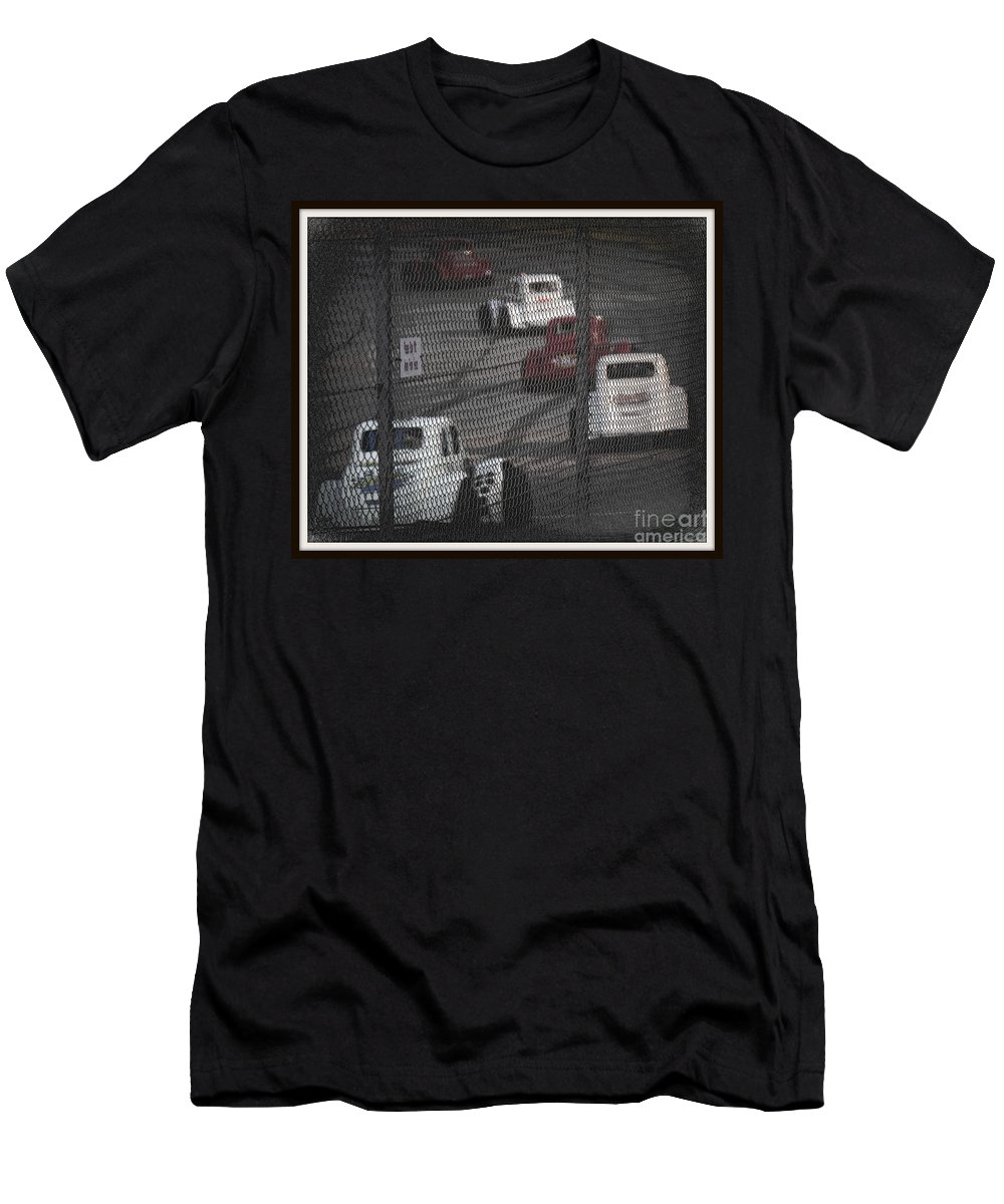 Cars Men's T-Shirt (Athletic Fit) featuring the photograph Cars by Anita Goel
