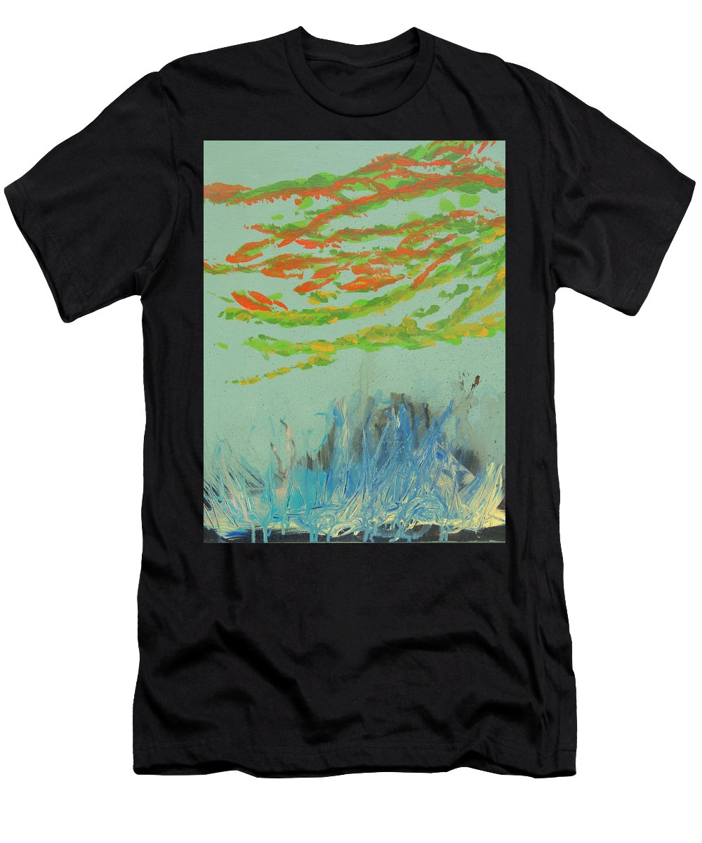 Florida Keys Men's T-Shirt (Athletic Fit) featuring the painting Carysfort Reef by Max Bowermeister