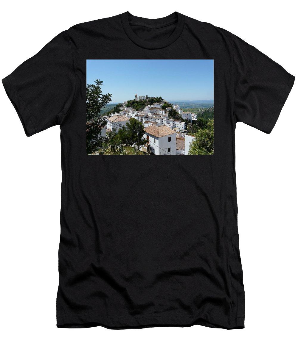 Landscape Men's T-Shirt (Athletic Fit) featuring the photograph Casares Spain by Valerie Ornstein
