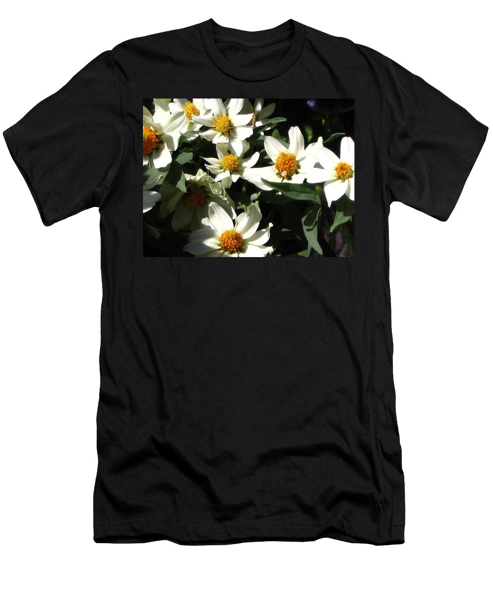 Floral Men's T-Shirt (Athletic Fit) featuring the photograph Cascade Of White Flowers by Line Gagne