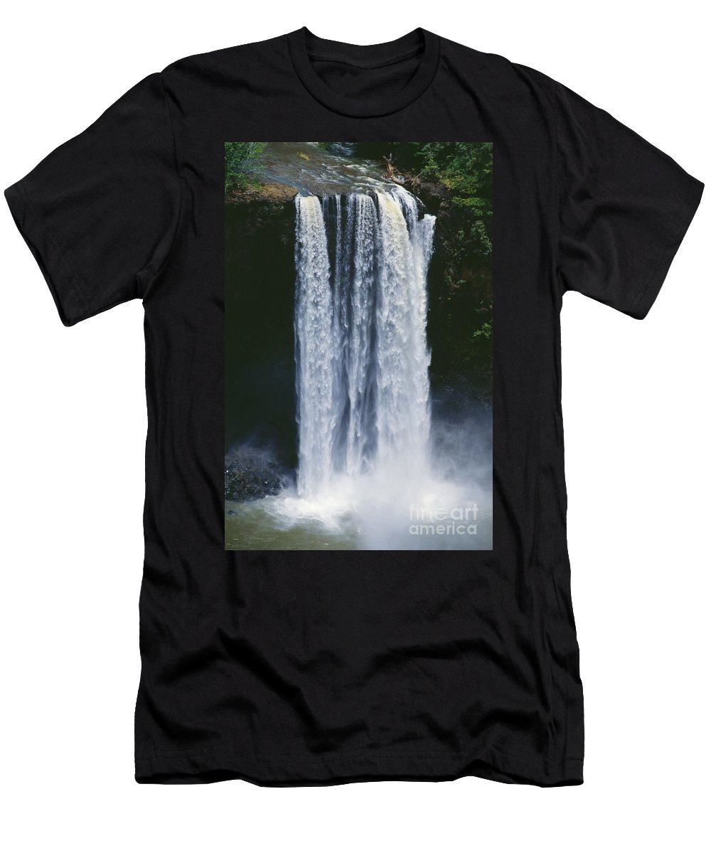 Active Men's T-Shirt (Athletic Fit) featuring the photograph Cascading Waterfall by Kyle Rothenborg - Printscapes