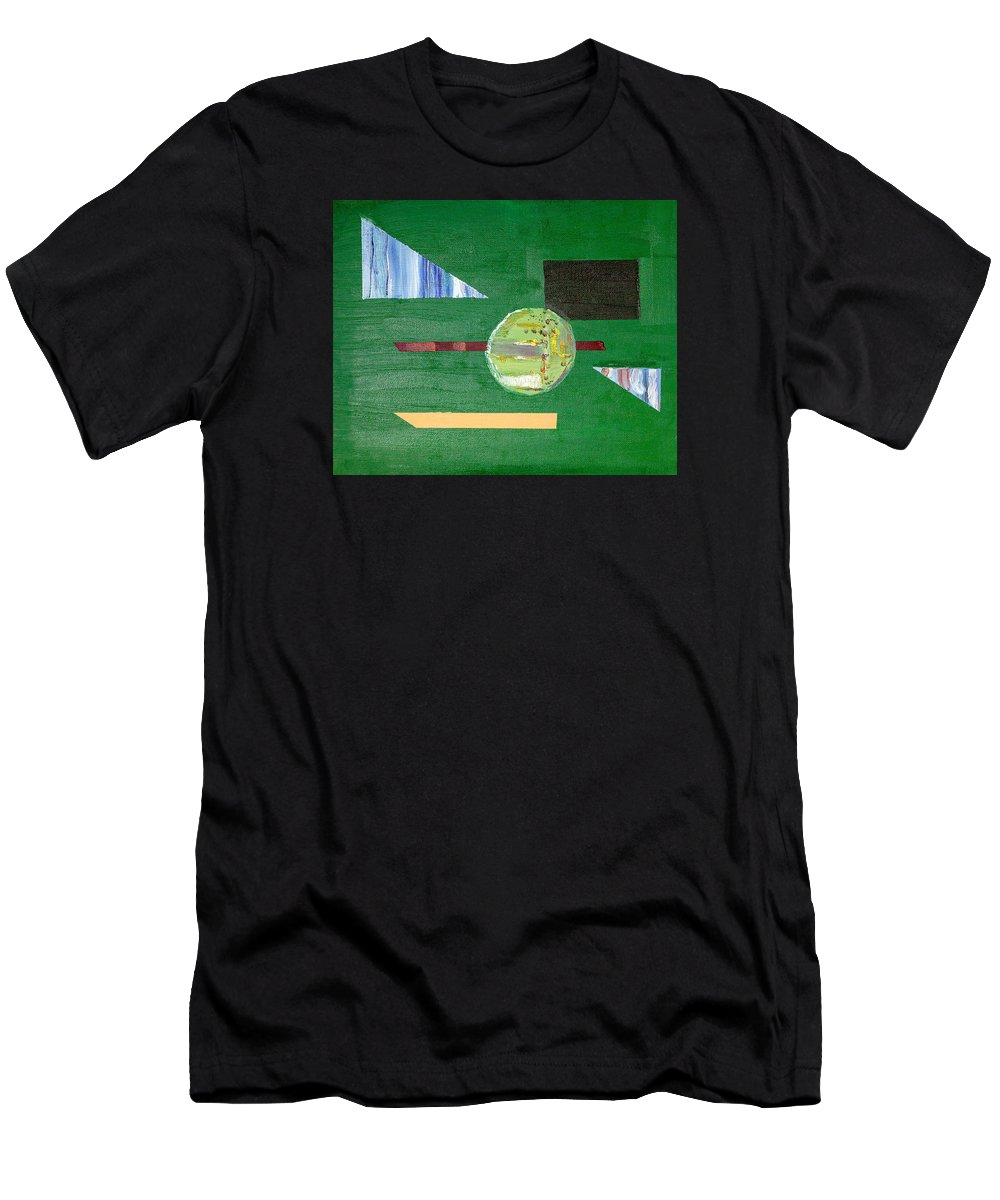 Damien Men's T-Shirt (Athletic Fit) featuring the painting Casini Devision by Damien McCabe