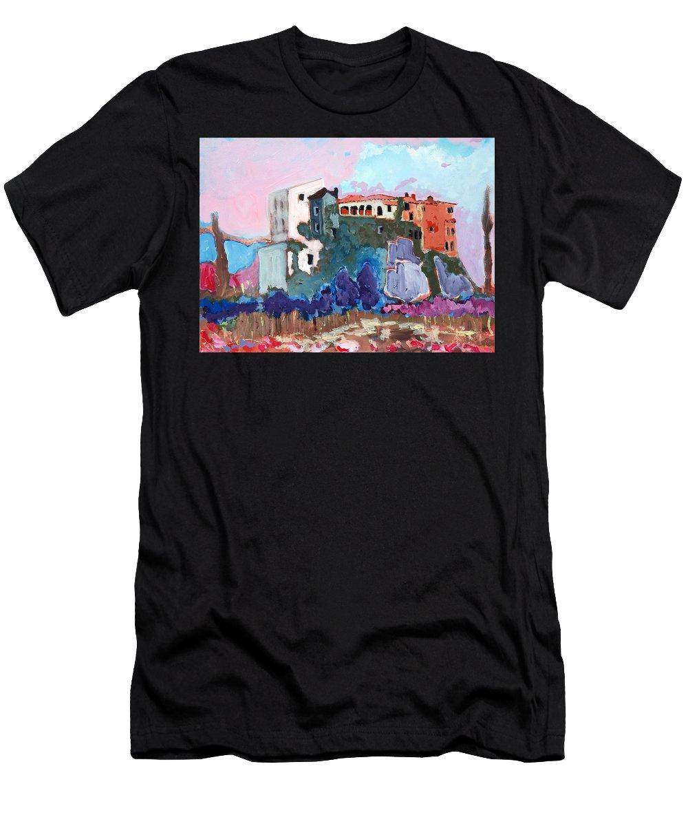 Castle Men's T-Shirt (Athletic Fit) featuring the painting Castello by Kurt Hausmann