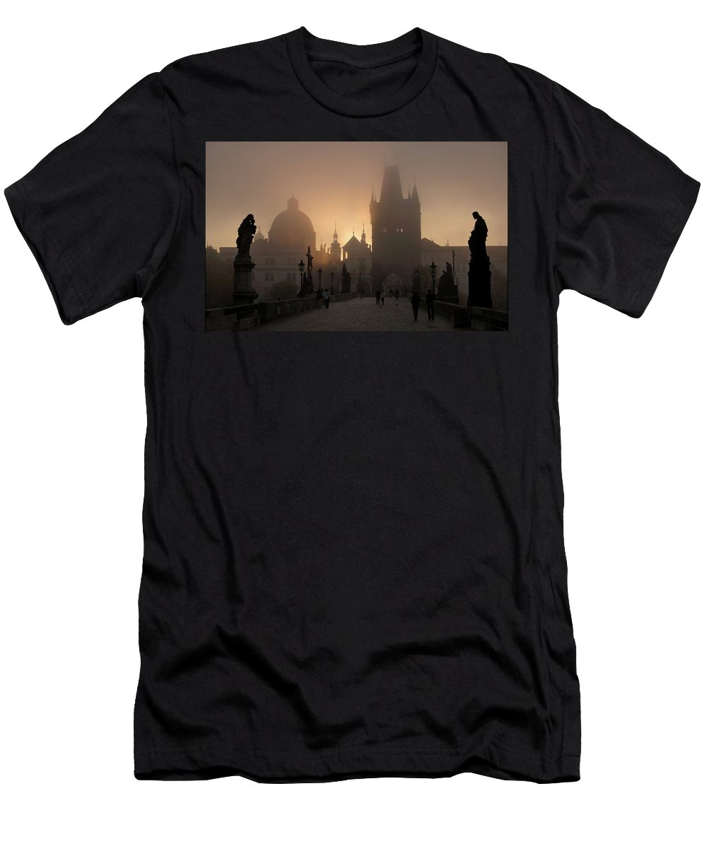 Castle Men's T-Shirt (Athletic Fit) featuring the digital art Castle by Dorothy Binder