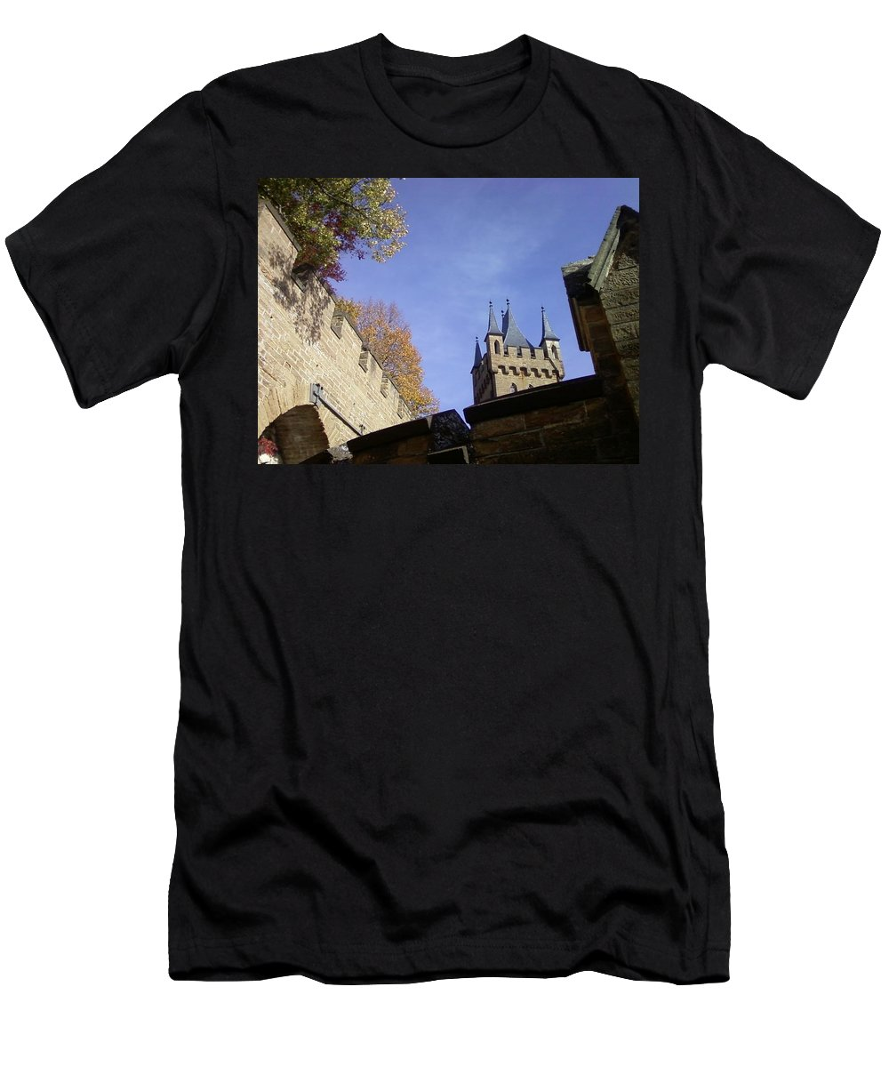 Castle Men's T-Shirt (Athletic Fit) featuring the photograph Castle From Afar by David McGill