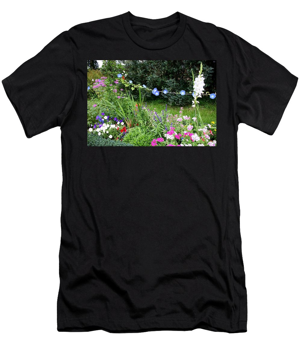 Garden Men's T-Shirt (Athletic Fit) featuring the photograph Castle Garden In Germany by Carol Groenen
