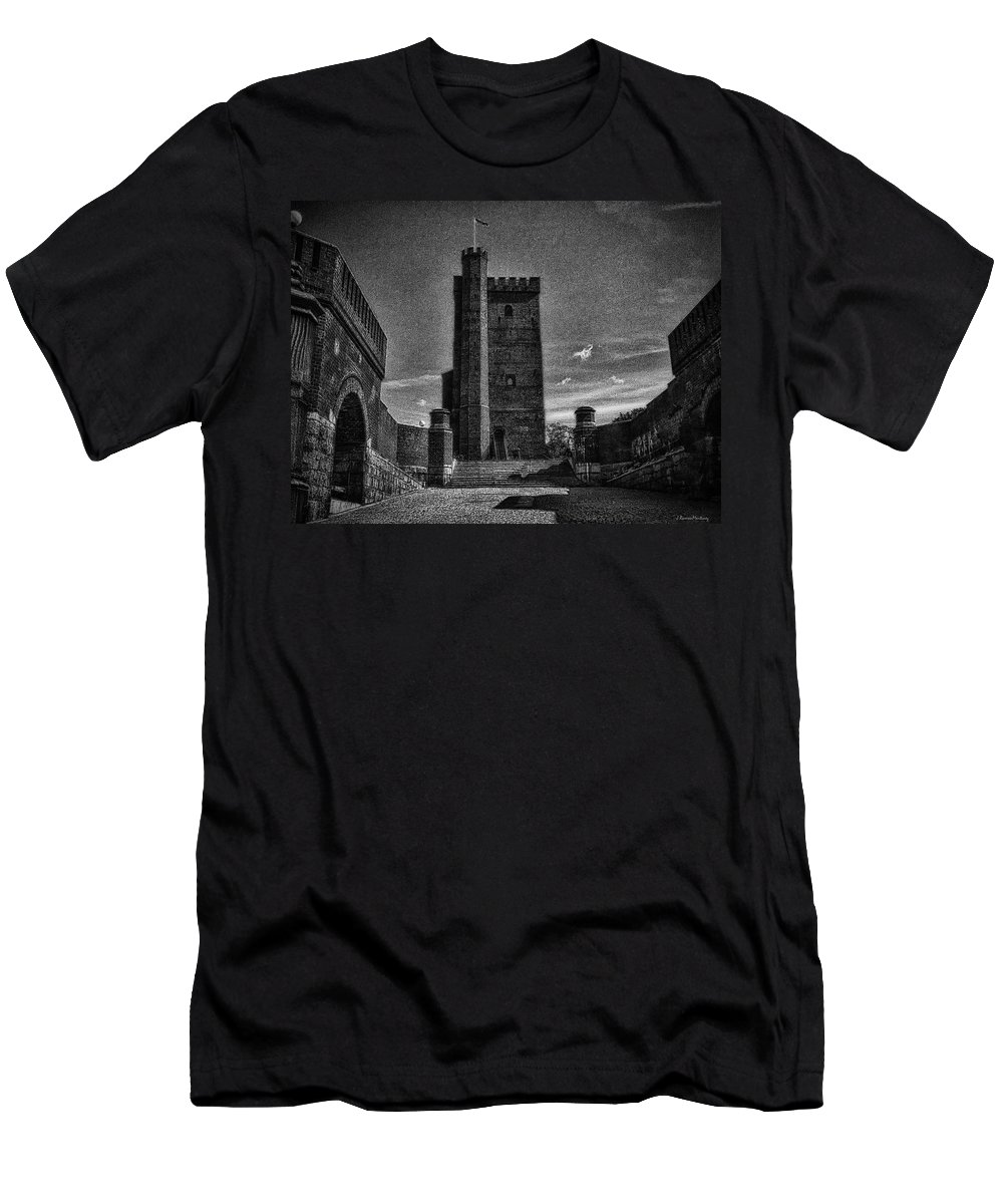 Architecture Men's T-Shirt (Athletic Fit) featuring the photograph Castle Of Helsingborg by Ramon Martinez