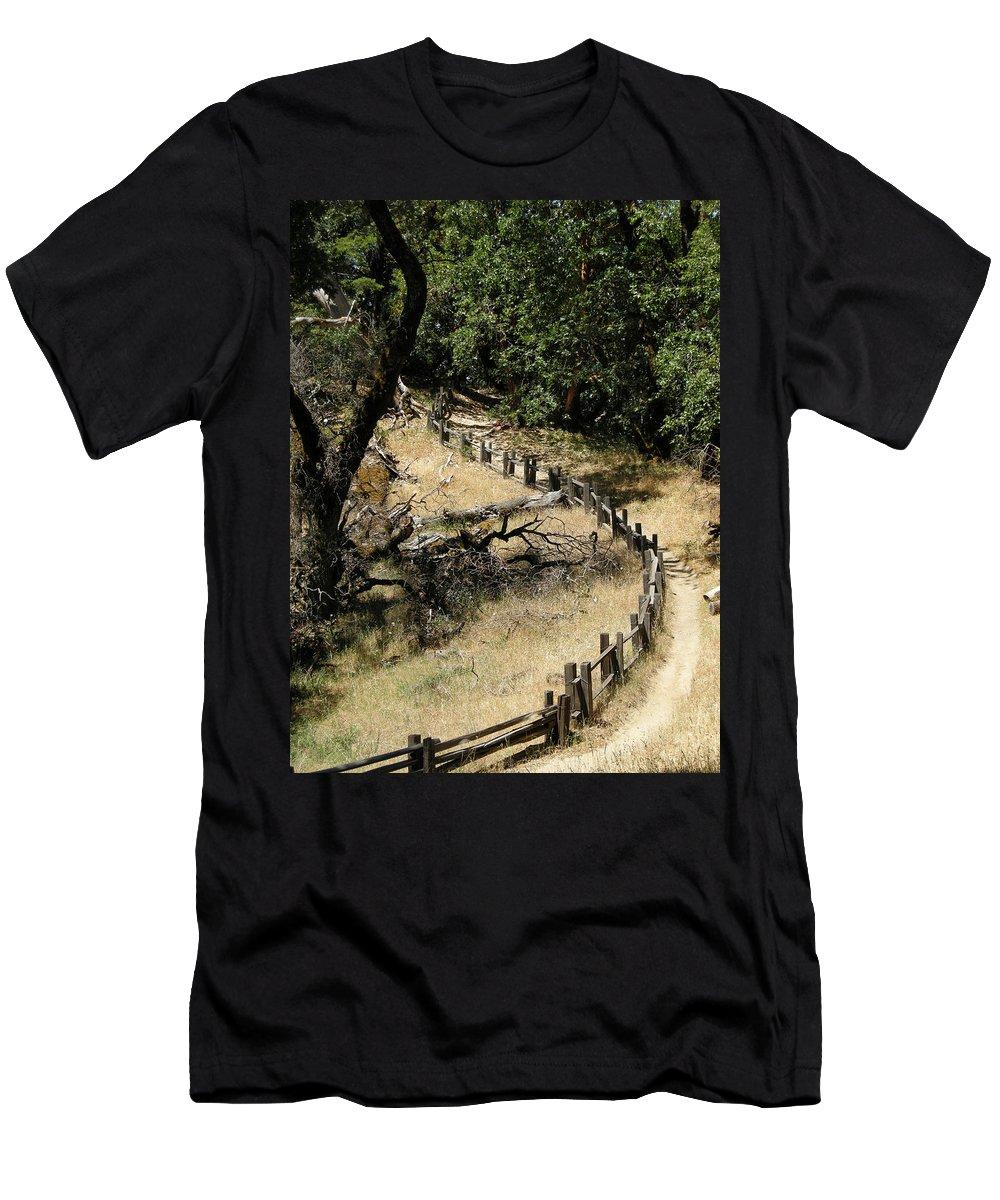 Landscapes Men's T-Shirt (Athletic Fit) featuring the photograph Castle Rock Sp by Karen W Meyer