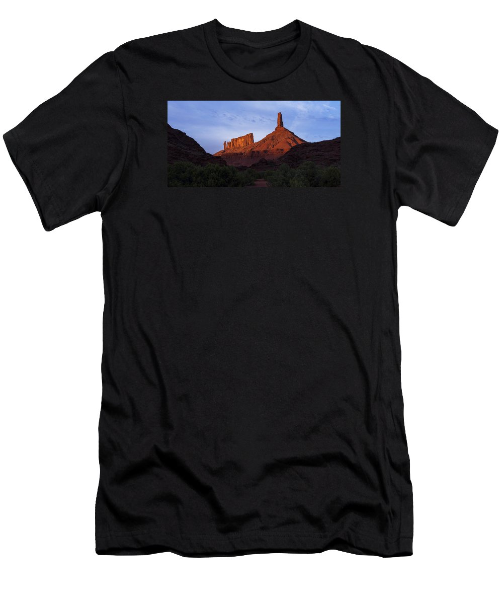 Castle Valley T-Shirt featuring the photograph Castle Towers by Chad Dutson