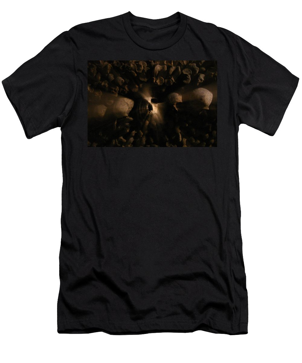 Men's T-Shirt (Athletic Fit) featuring the photograph Catacombs - Paria France 3 by Jennifer McDuffie