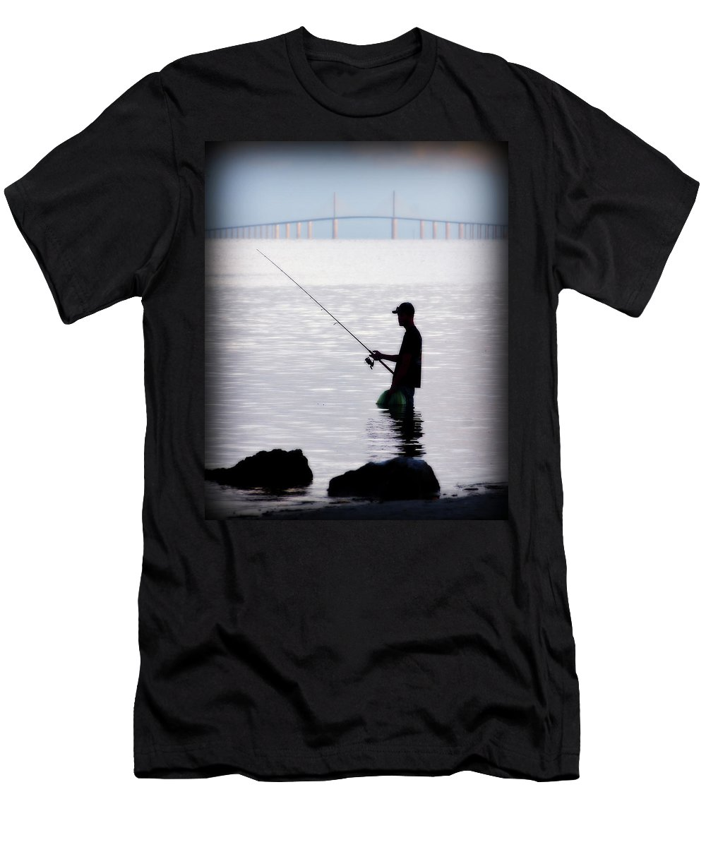 Tampa Bay Men's T-Shirt (Athletic Fit) featuring the photograph Catching Breakfast by Randall Tosch