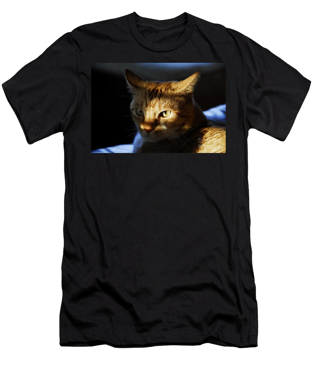 Cat.feline Men's T-Shirt (Athletic Fit) featuring the photograph Catfish by David Lee Thompson