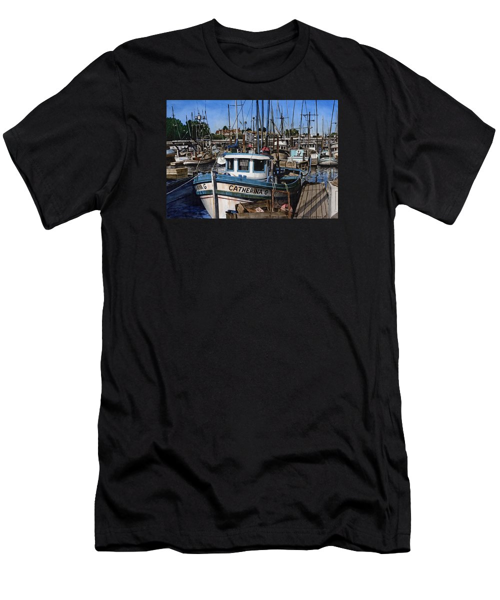 Transportation Men's T-Shirt (Athletic Fit) featuring the painting Catherina G by James Robertson