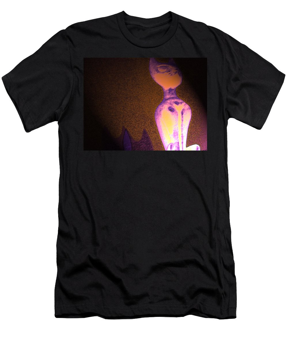 Abstract Men's T-Shirt (Athletic Fit) featuring the photograph Cats 5 by Lenore Senior